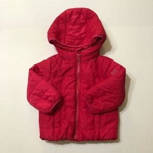 Baby Gap Pink Hooded Puffer Jacket 12-18 months